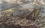 Abraham van Beyeren Rough Sea painting