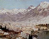 Adelsteen Normann A View Of Como painting