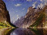 Adelsteen Normann View of a Fjord painting