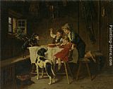 Adolf Eberle Dinner Time painting
