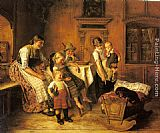 Adolf Eberle The Intruder painting