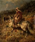 Adolf Schreyer An Arab Horseman on the March painting