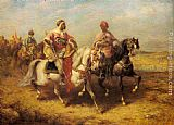 Adolf Schreyer Arab Chieftain and his Entourage painting