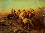 Adolf Schreyer Arabian Horseman near a Watering Place painting