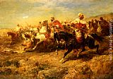 Adolf Schreyer Arabian Horseman painting