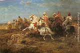 Adolf Schreyer Arabian Patrol painting