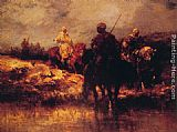 Adolf Schreyer Arabs on Horseback painting