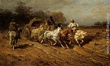 Adolf Schreyer Caravan on the open Road painting