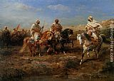 Adolf Schreyer Desert Canter painting