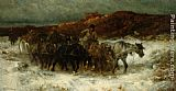 Adolf Schreyer Homeward Bound painting