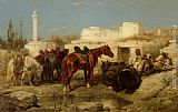 Adolf Schreyer The Oasis painting