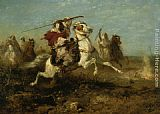 Adolf Schreyer The Pursuit painting