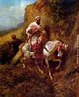 Adolf Schreyer The Warrier painting