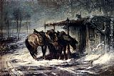 Adolf Schreyer Wallachian Blizzard painting