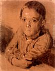 Adolph von Menzel Drawing of a Boy painting