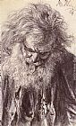 Adolph von Menzel Portrait of an Old Man painting