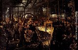 Adolph von Menzel The Foundry painting