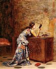 Adolphe Alexandre Lesrel Captivated painting