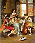 Adolphe Alexandre Lesrel The Musical Trio painting