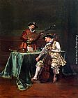 Adolphe Alexandre Lesrel The Musicians painting
