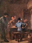 Adriaen Brouwer In the Tavern painting
