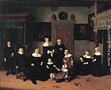Adriaen van Ostade Portrait of a Family painting