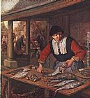 Adriaen van Ostade The Fishwife painting