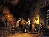 Adrien Ferdinand De Braekeleer The Armor Shop painting