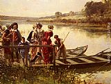 Adrien Moreau At The Ferry painting