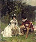 Adrien Moreau The Courtship painting