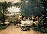 Adrien Moreau Toast to the heir presumptive painting