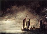 Aelbert Cuyp Dordrecht Harbour by Moonlight painting