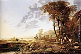 Aelbert Cuyp Evening Landscape painting