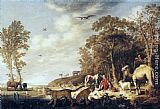 Aelbert Cuyp Orpheus with Animals in a Landscape painting