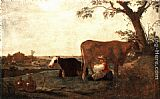 Aelbert Cuyp The Dairy Maid painting