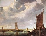 Aelbert Cuyp The Ferry Boat painting