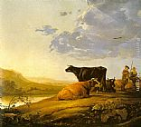 Aelbert Cuyp Young Herdsman with Cows painting