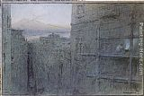 Albert Goodwin A Street in Naples painting