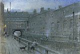 Albert Goodwin Lincoln Canal painting