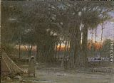 Albert Goodwin The Banyan Trees and the Sentinel painting