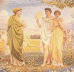 Albert Joseph Moore The Loves of the Winds and the Seasons painting