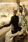 Albert Lynch At the Bullfight painting
