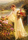 Albert Lynch Gathering Flowers painting