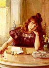 Albert Lynch The Letter painting