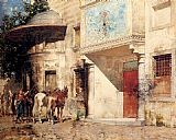 Alberto Pasini Outside The Mosque painting