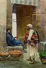 Alberto Rosati The Orange Seller painting