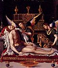 Alessandro Allori Dead Christ Attended By Two Angels painting