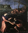 Alessandro Allori St Peter Walking on the Water painting
