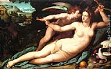 Alessandro Allori Venus and Cupid painting