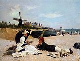 Alexander Rossi On The Beach painting